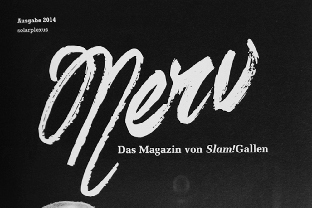 NERV Nr. 17 – Das einzige Slam-Magazin der Schweiz